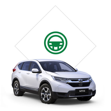 Pictogram proefrit Honda CR-V Hybrid.