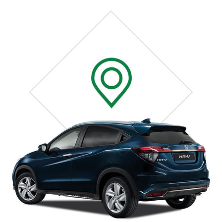 Honda HR-V illustratie dealer.