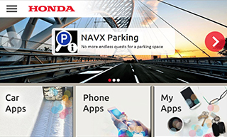 screenshot Honda App Center