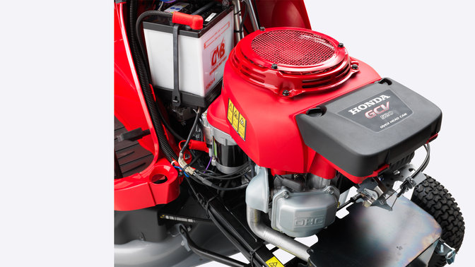 Close-up van Honda GCV Pro Spec-motor