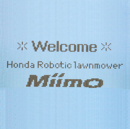 Honda Miimo close-up van scherm.