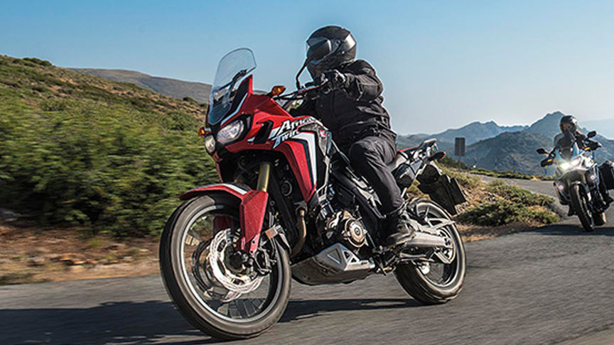 Close-up van Africa Twin