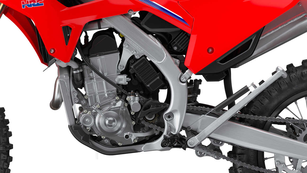 CRF450RX, close up of the engine.