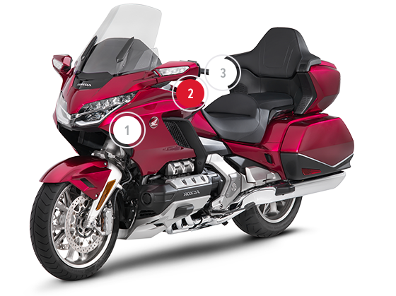 overzicht honda gold wing touring honda motorfietsen. Black Bedroom Furniture Sets. Home Design Ideas